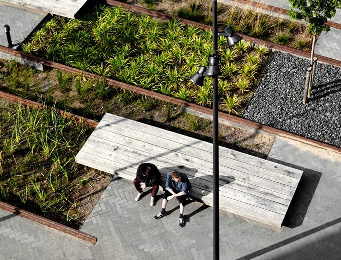 Werk godsbanearealet for Dsb landscape architects
